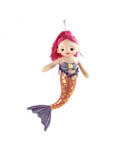 "12"" Mermaid with Pink Hair"