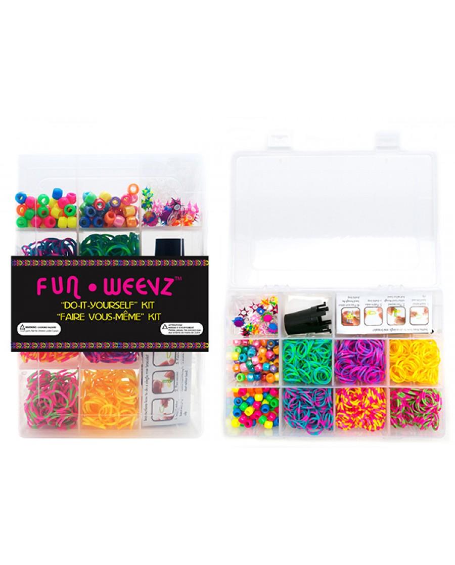 """""""Spiky Tie-Dye"""" Fun Weevz Bands Complete Kit"""