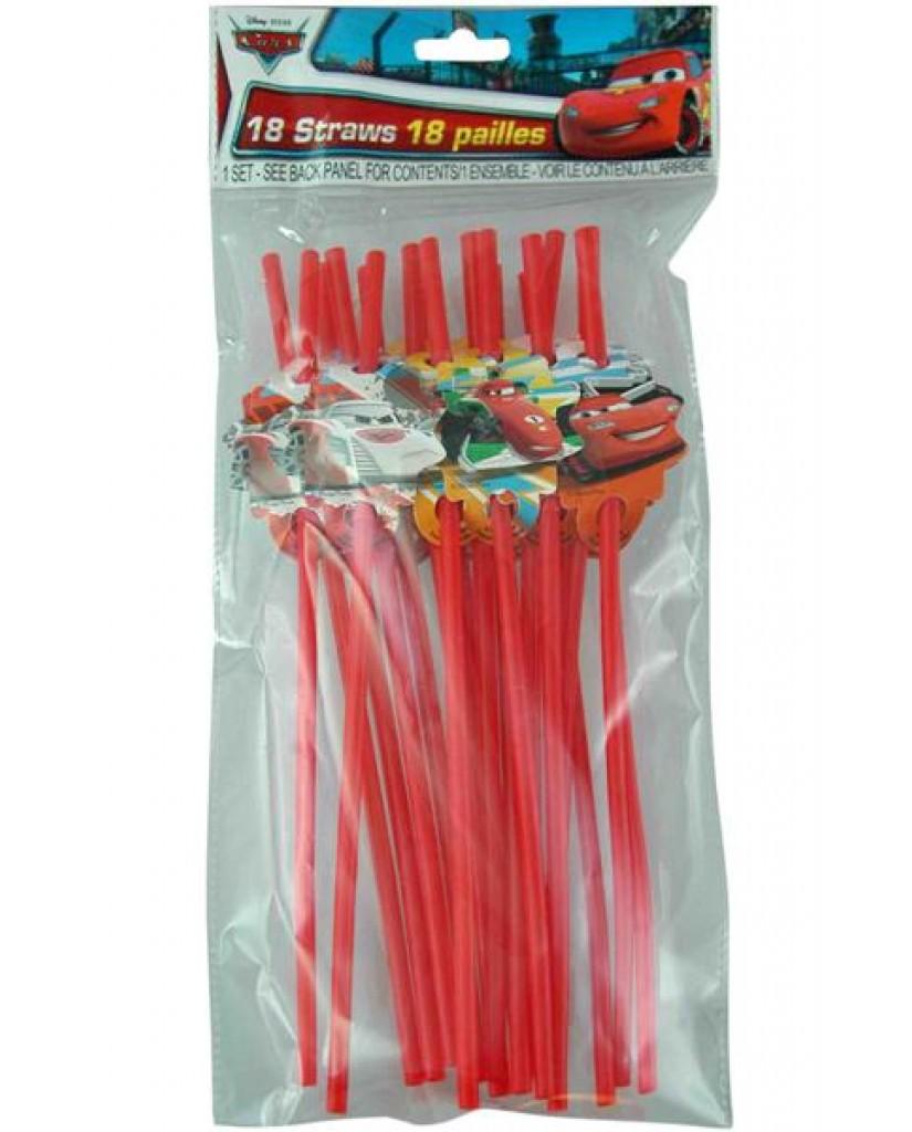 18-pk Cars Character Straws