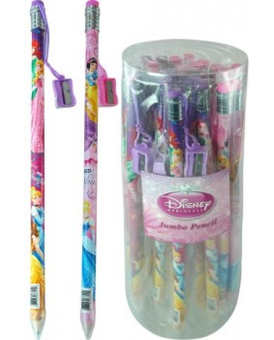 Disney Princess Jumbo Pencil with Sharpener