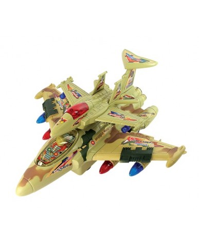 "12"" Piggy Back Jet Fighter with Light & Sounds"