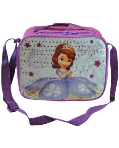 "10"" Sofia the First Lunch Bag with Strap"