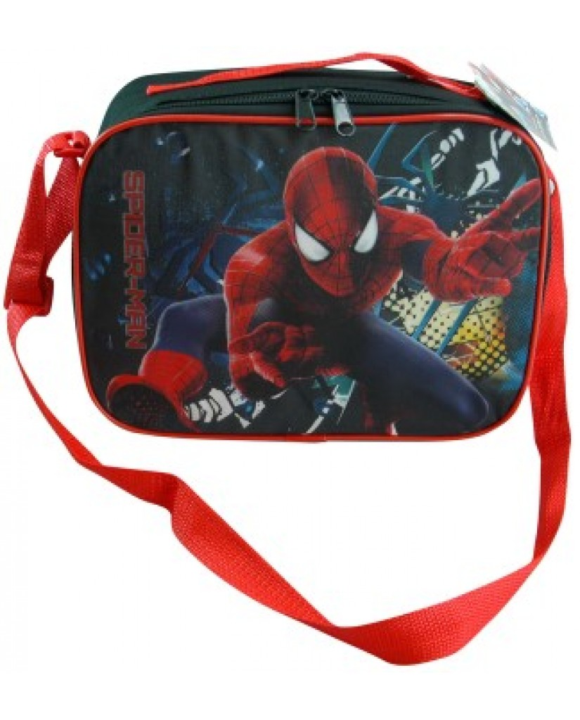 """10"""" Spiderman Lunch Bag with Strap"""