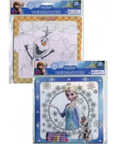 Disney Frozen Color Your Own Puzzle