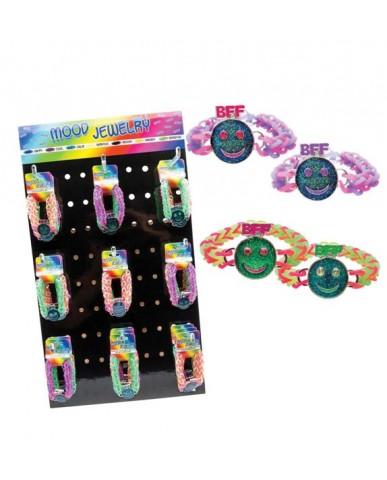 36 pc. 2-pk Mood Bracelet Smiley Face Weevz Assortment