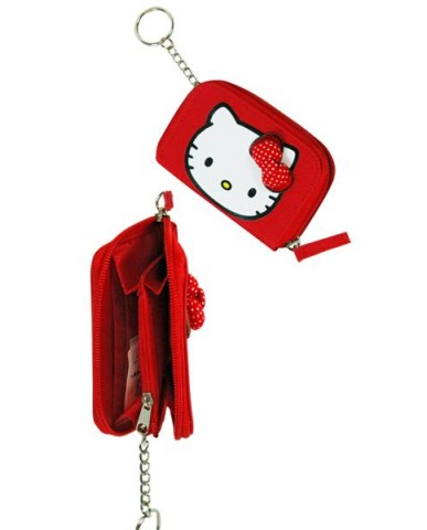 Hello Kitty Zip Around Nylon Wallet
