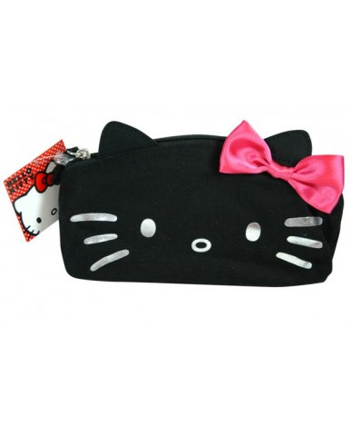 Hello Kitty Black Canvas Cosmetic Bag