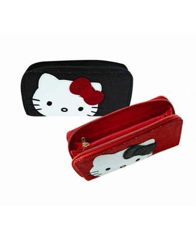 Hello Kitty Glitter Wallets (Asst Blk/Red)