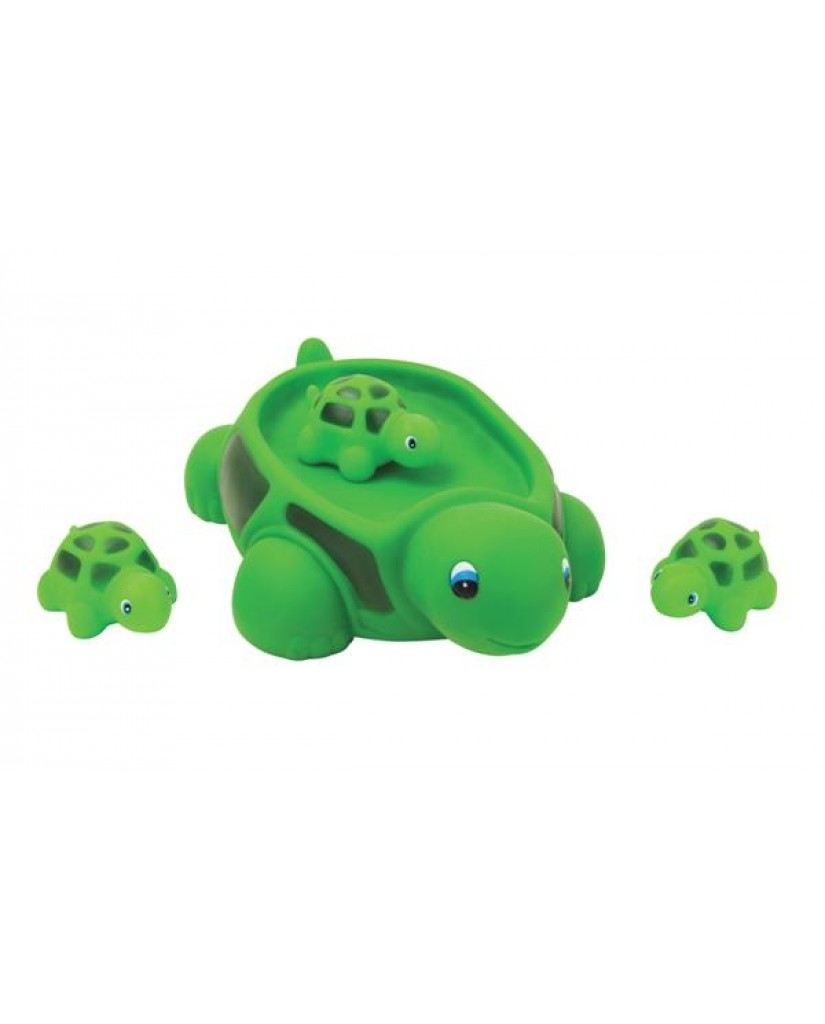 "6"" Non-phthalate Turtle Family Bath Toys"