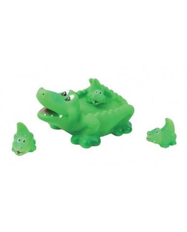 "8"" Non-phthalate Crocodile Family Bath Toys"