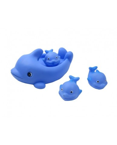 "8"" Non-phthalate Whale Family Bath Toys"