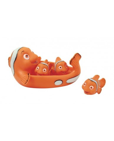 "7"" Non-phthalate Clown Fish Family Bath Toys"
