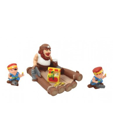 "7"" Non-phthalate Pirate Family Bath Toys"