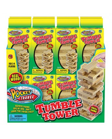 "4"" Pocket Toys Tumble Tower"