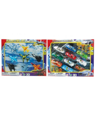 "3"" Die Cast Jet Plane & Car Sets"