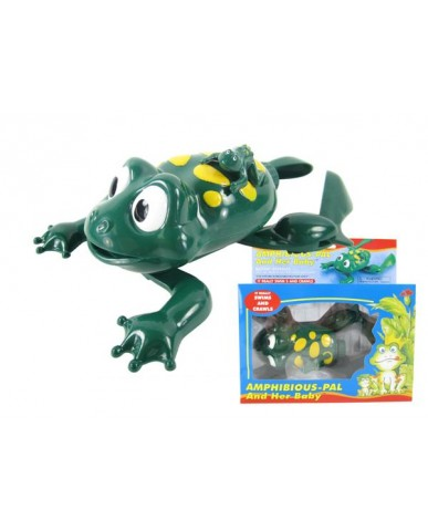 Battery Operated Frog with Baby