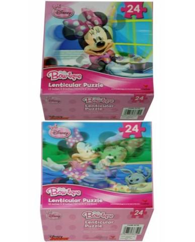"""Minnie """"Bowtique"""" 24pc Lenticular 3D Puzzle"""