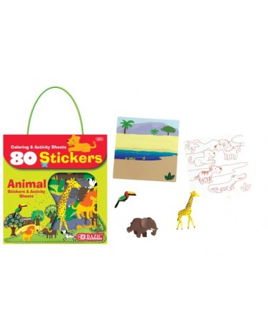 Animal Series 80 ct. Stickers with Activity Sheets