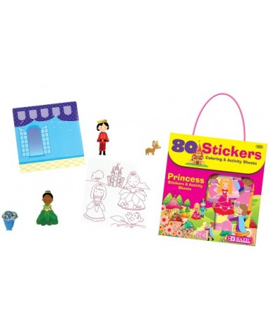 Princess Series 80 ct. Stickers with Activity Sheets