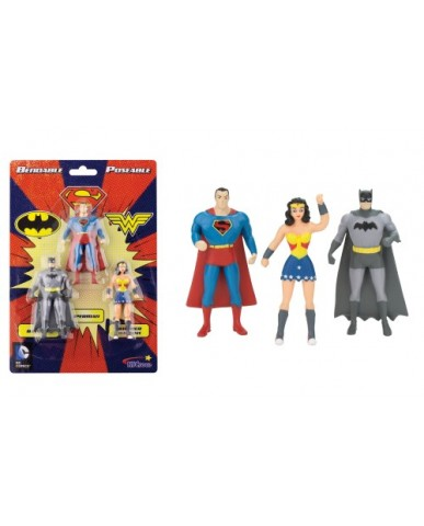 "3"" 3-PK Justice League Mini Bendables"