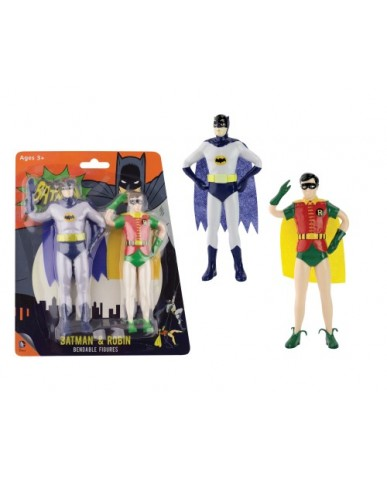"""5.5"""" 2-PK Batman & Robin Classic TV Bendables"""