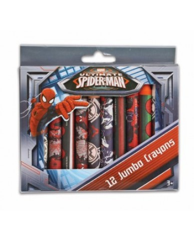 Spiderman Jumbo Crayons