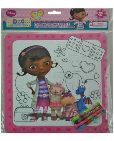 Doc McStuffins Color Your Own Puzzle
