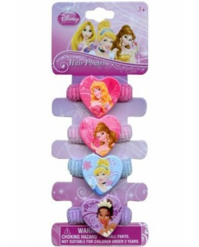 Disney Princess 4 Pony Terry Hair Ties