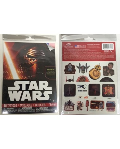 Star Wars Ep. 7 25-pc Tattoo Sheets