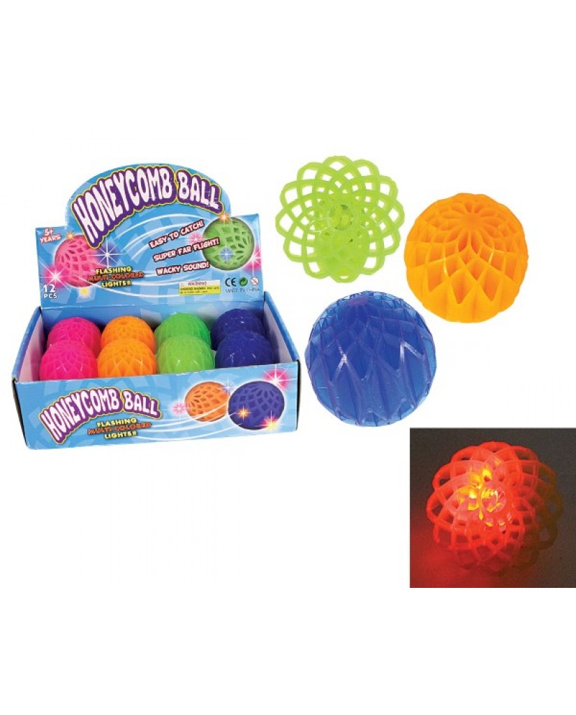 "2"" Squishy Stress Honeycomb Light-Up Ball"