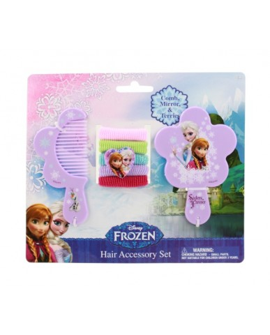 Disney Frozen Comb, Mirror & Hair Tie Set