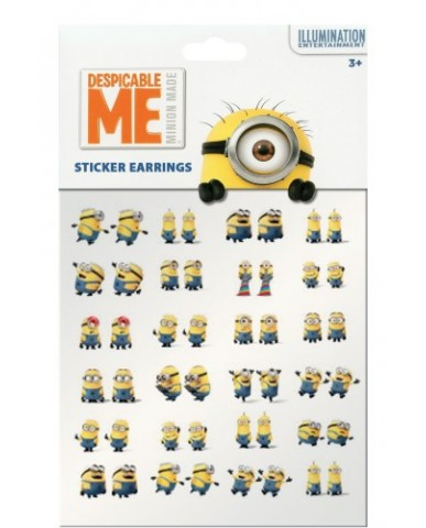 Minions 24 Pair Sticker Earrings