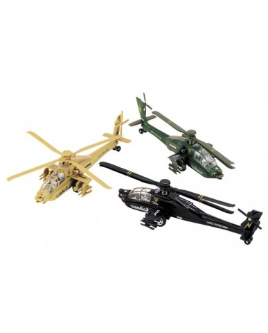 "9"" AH-64 Apache Helicopter"