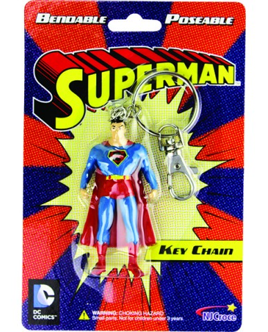 "3"" Bendable Superman Key Chain"