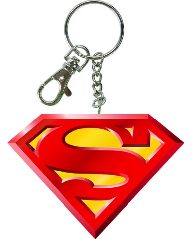 "2.75"" Bendable Superman Logo Key Chain"