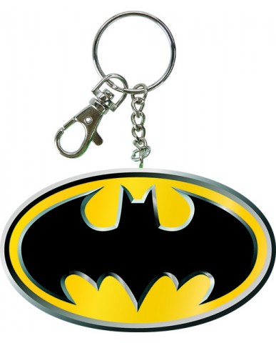 "3"" Bendable Batman Logo Key Chain"