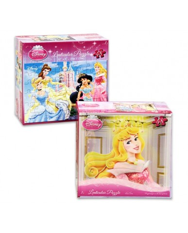 Disney Princess 48pc Lenticular 3D Puzzles