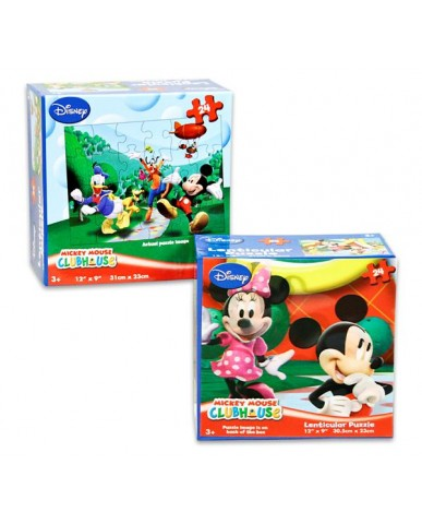 Mickey 48pc Lenticular 3D Puzzles