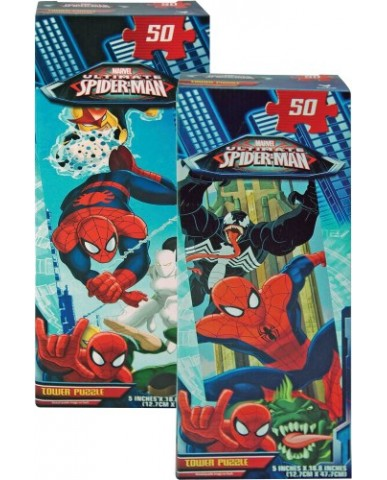 Spiderman 50-pc Tower Puzzle
