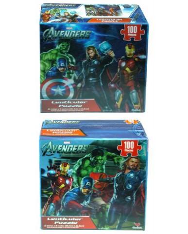 Avengers 3D Lenticular Puzzle (2 Asst)