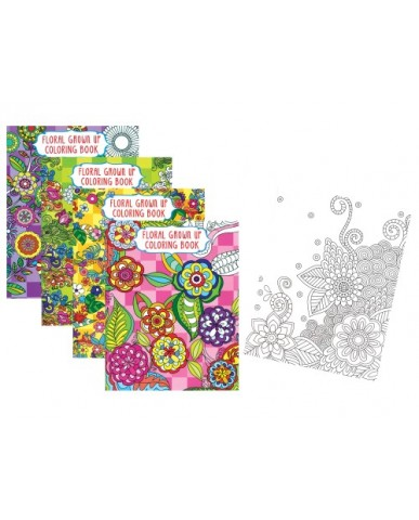 Floral Adult Coloring Books - 1 Sided