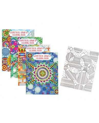 Geometric Adult Coloring Books - 1 Sided