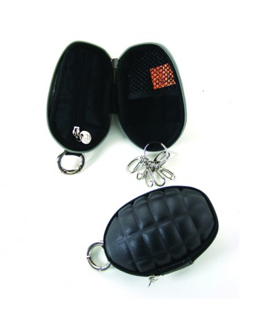 Grenade Coin Purse W/Key Ring - Black