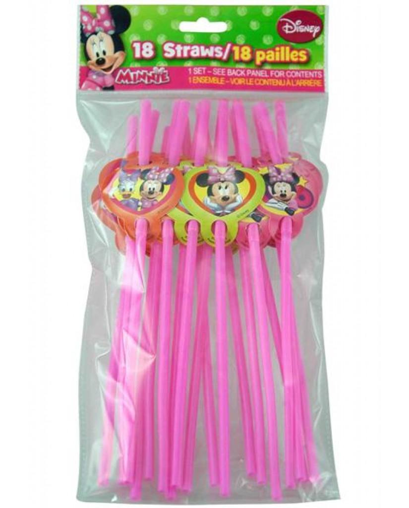 18-pk Minnie Character Straws