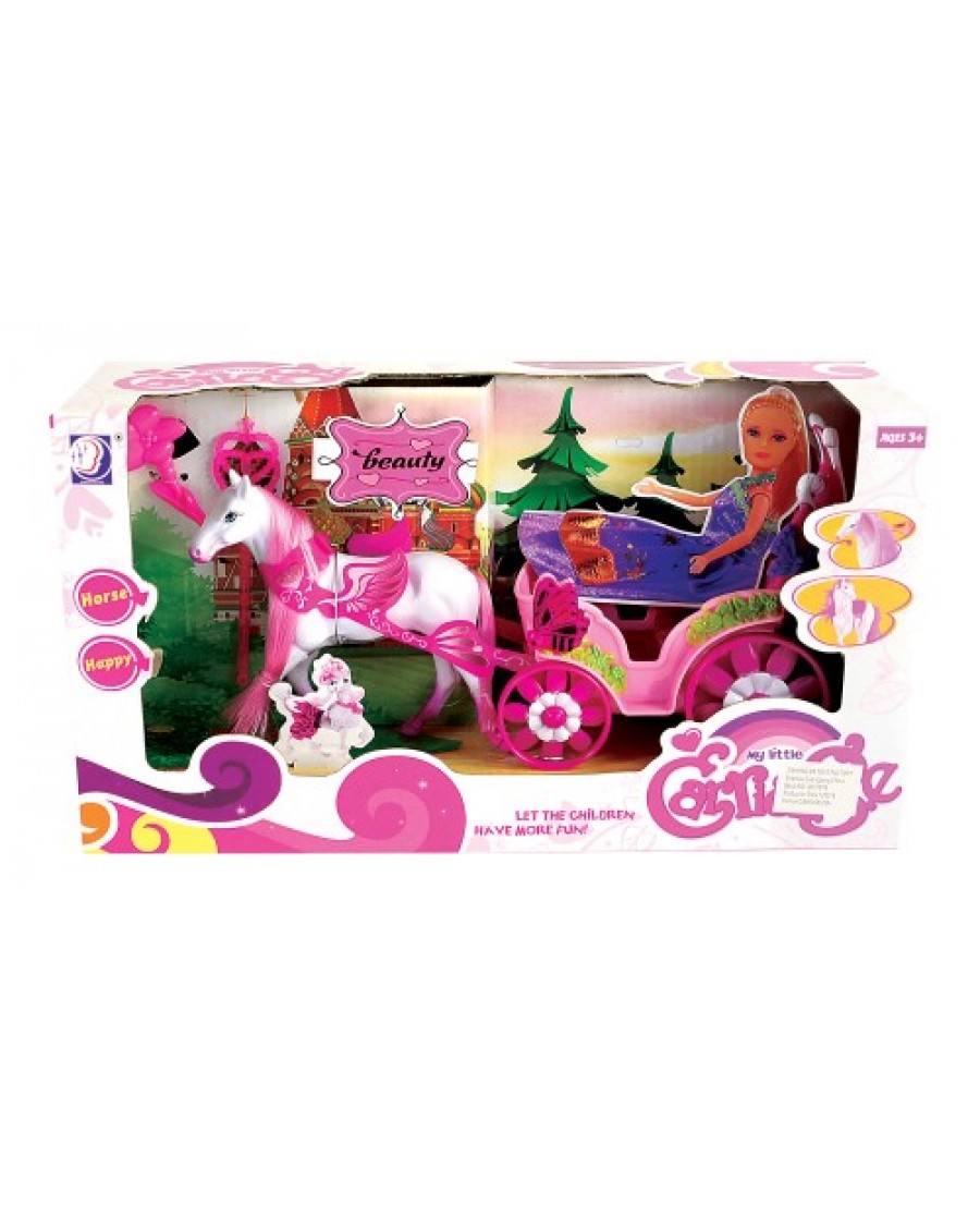"11"" Doll Horse & Carriage Play Set"