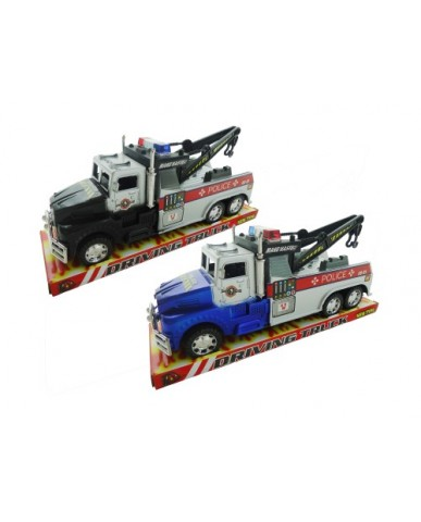 """11"""" Friction Powered Police Wrecker Tow Truck"""