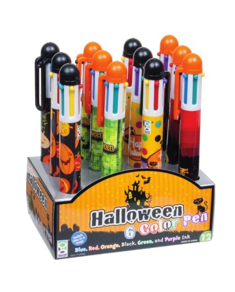 Halloween 6-Color Pen