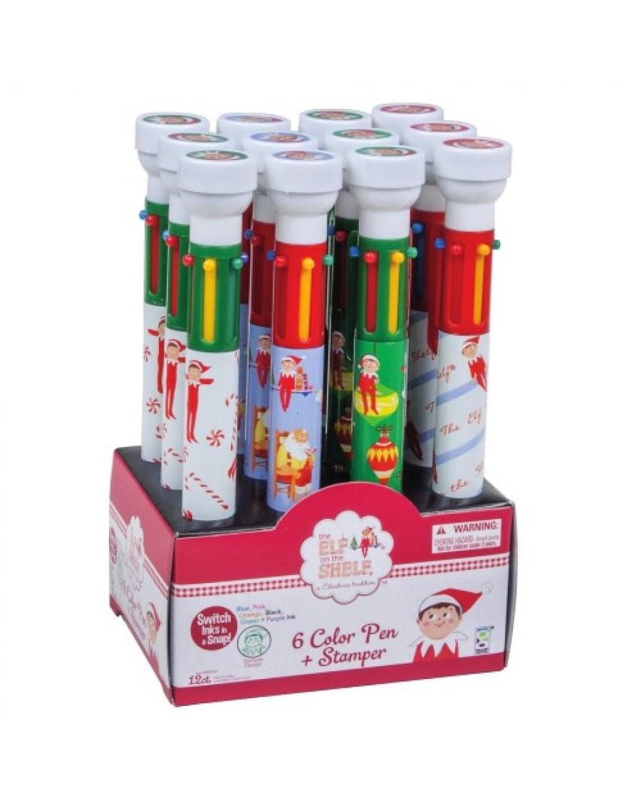 Elf on the Shelf 6-Color Stamper Pen