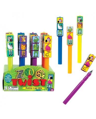 Zoo Twist Puzzle Cap Pen
