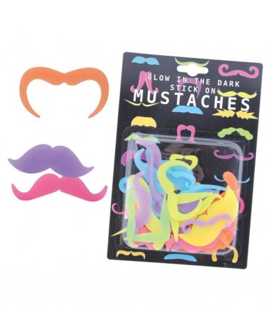 Glow In The Dark Stick On Mustaches